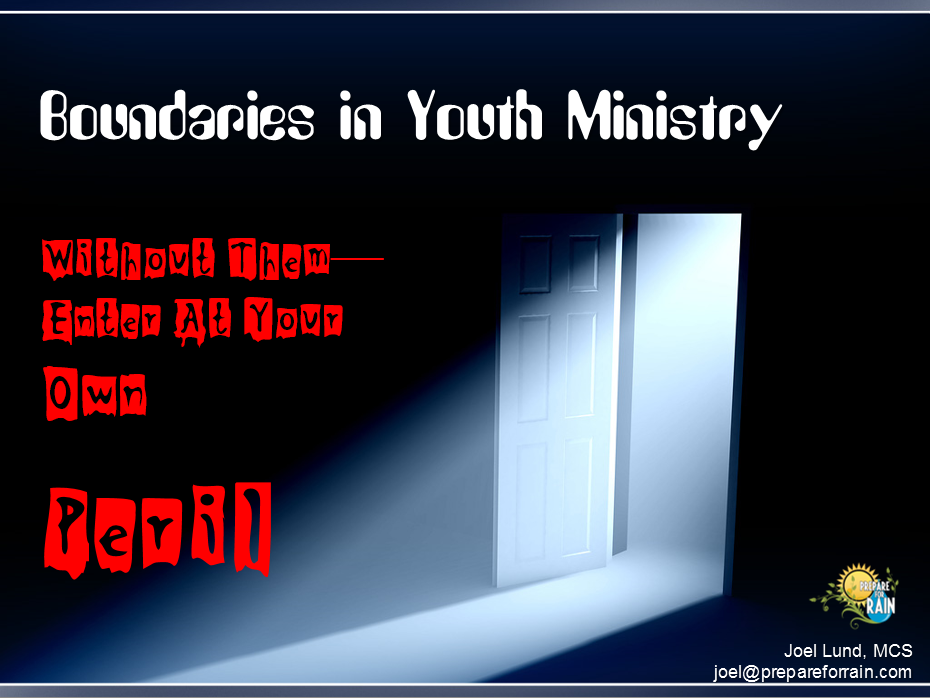 Boundaries in Youth Ministry Presentation - cover image